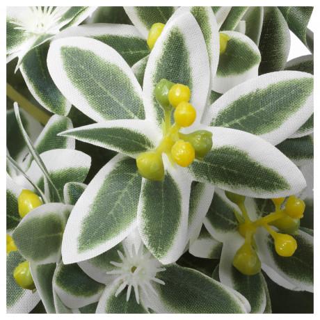 Искусственное растение в горшке ФЕЙКА Молочай разноцветный фото 4