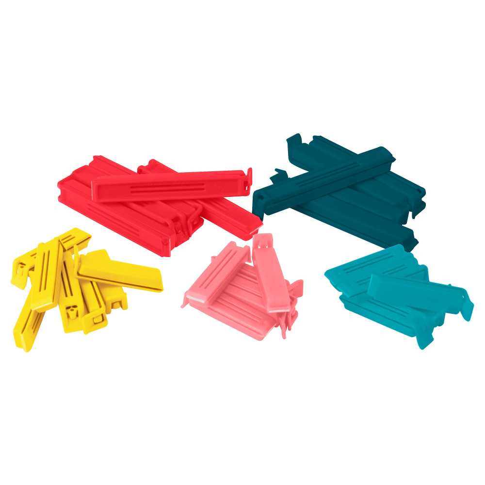 Зажим для пакетов,30 штук БЕВАРА разные цвета, различные размеры  фото 1