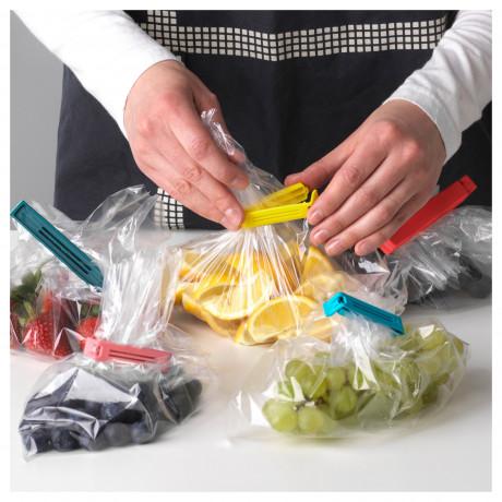 Зажим для пакетов,30 штук БЕВАРА разные цвета, различные размеры фото 4
