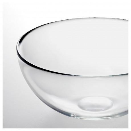 Сервировочная миска БЛАНДА прозрачное стекло фото 5