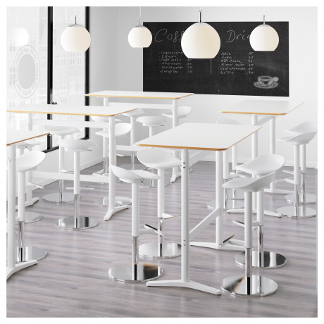 Барный стол БИЛЬСТА белый, белый фото 5