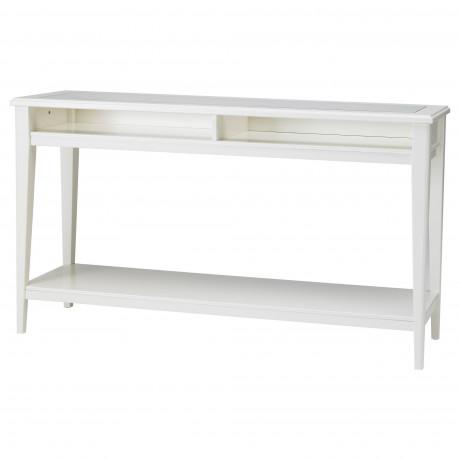 Консольный стол ЛИАТОРП белый, стекло фото 3