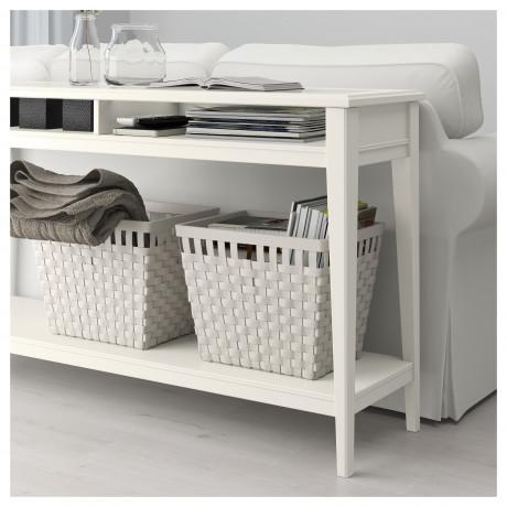 Консольный стол ЛИАТОРП белый, стекло фото 4