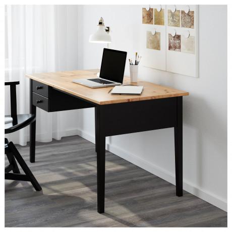 Письменный стол АРКЕЛЬСТОРП черный фото 4