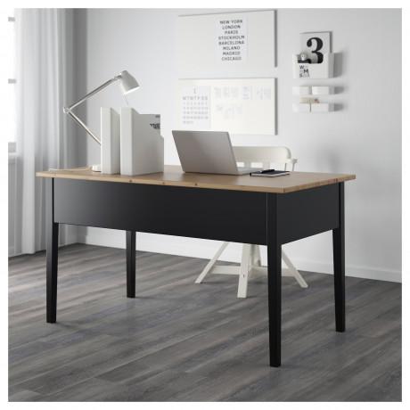 Письменный стол АРКЕЛЬСТОРП черный фото 5