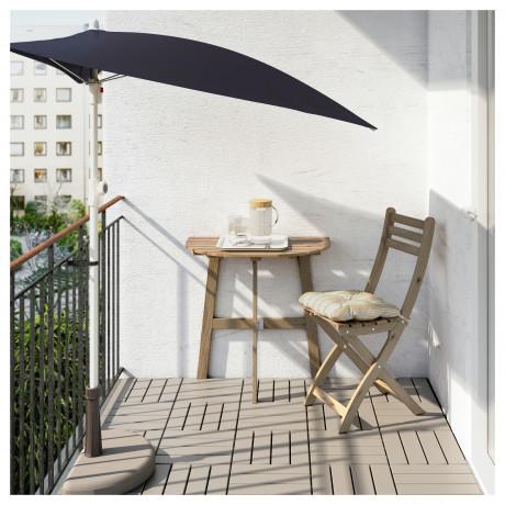 Пристенный стол, садовый АСКХОЛЬМЕН складной светло-коричневый серо-коричневая морилка фото 4