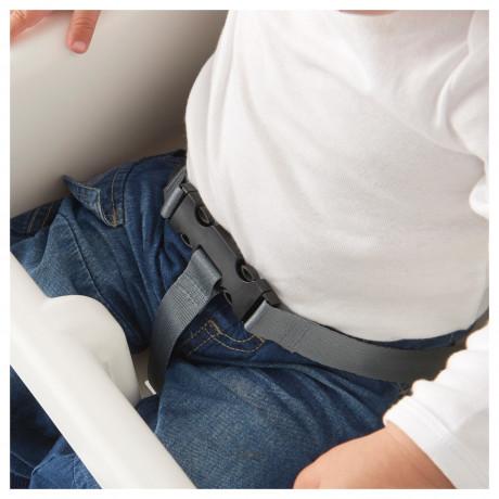 Высок стульчик с ремн безопасн АНТИЛОП белый, серебристый фото 5