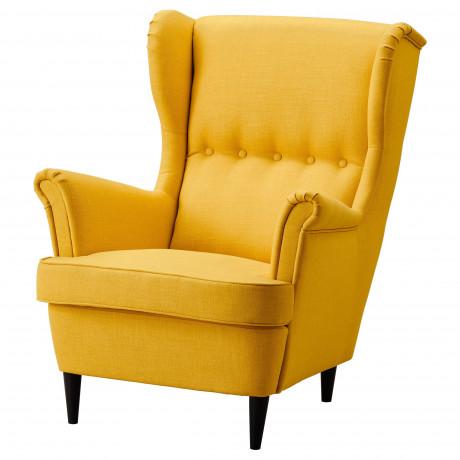 Кресло с подголовником СТРАНДМОН Шифтебу желтый фото 3