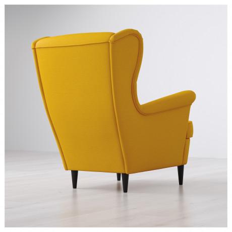 Кресло с подголовником СТРАНДМОН Шифтебу желтый фото 5