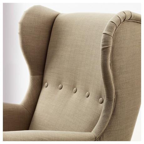 Кресло с подголовником СТРАНДМОН Шифтебу бежевый фото 4