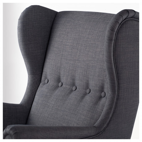 Кресло с подголовником СТРАНДМОН Шифтебу темно-серый фото 4