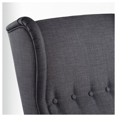 Кресло с подголовником СТРАНДМОН Шифтебу темно-серый фото 5