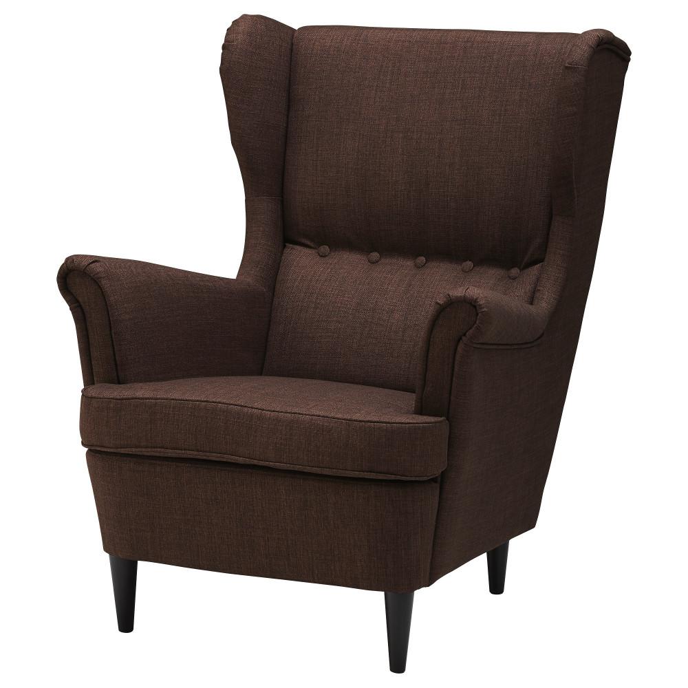 Кресло с подголовником СТРАНДМОН Шифтебу коричневый  фото 1