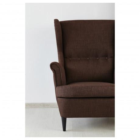 Кресло с подголовником СТРАНДМОН Шифтебу коричневый фото 4