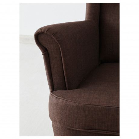 Кресло с подголовником СТРАНДМОН Шифтебу коричневый фото 5