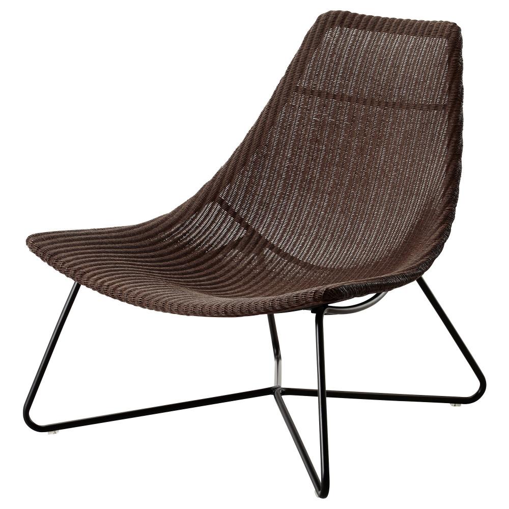 Кресло РОДВИКЕН темно-коричневый, черный  фото 1