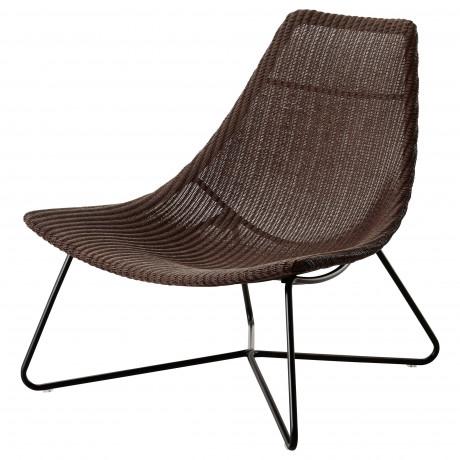 Кресло РОДВИКЕН темно-коричневый, черный фото 3