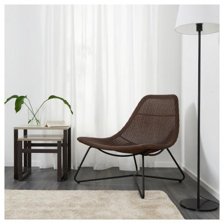 Кресло РОДВИКЕН темно-коричневый, черный фото 4