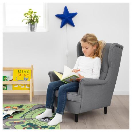 Кресло детское СТРАНДМОН Висле серый фото 4