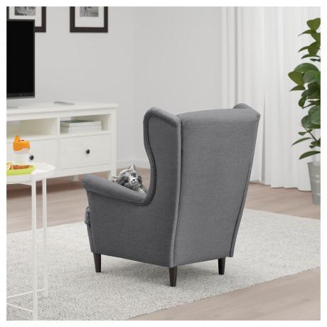 Кресло детское СТРАНДМОН Висле серый фото 5