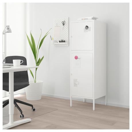 Комбинация для хранения с дверцами ХЭЛЛАН белый фото 4