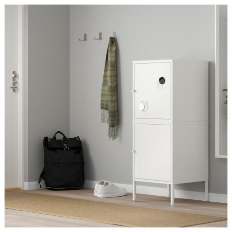 Комбинация для хранения с дверцами ХЭЛЛАН белый фото 5