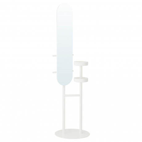Напольная вешалка с зеркалом ЛИЕРСКОГЕН белый фото 3