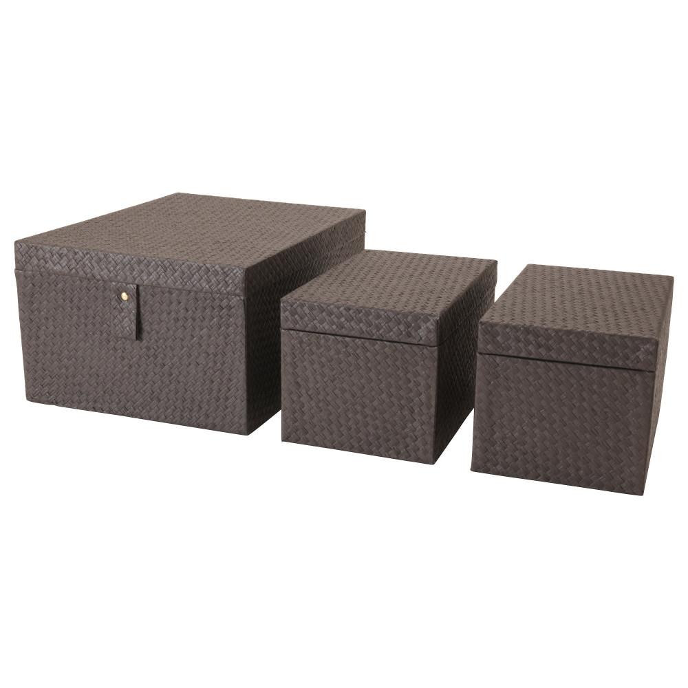 Набор коробок, 3 шт. БАТТИНГ черный  фото 1