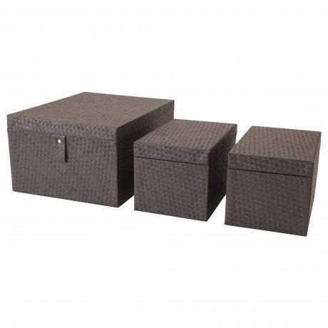 Набор коробок, 3 шт. БАТТИНГ черный фото 3