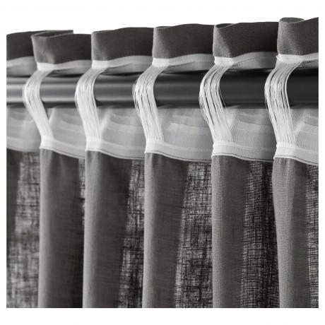 Гардины, 1 пара АЙНА темно-серый фото 5