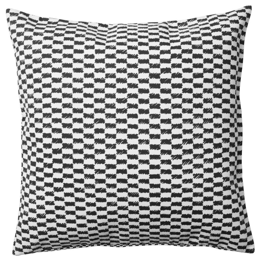 Чехол на подушку ЮППЕРЛИГ черный/белый  фото 1
