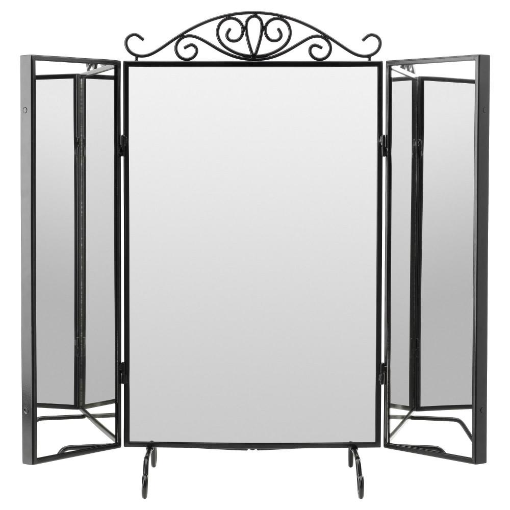 Зеркало настольное КАРМСУНД черный  фото 1