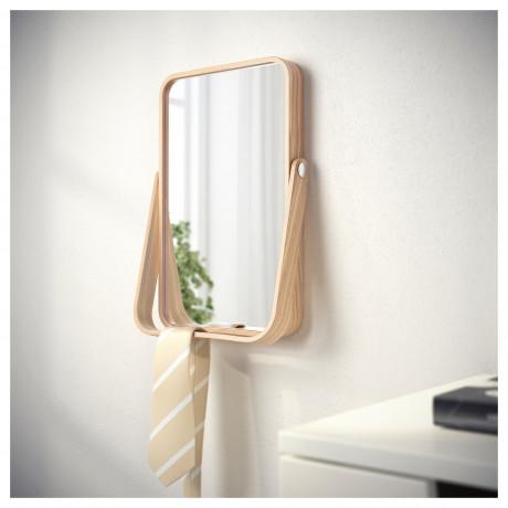 Зеркало настольное ИКОРННЕС ясень фото 5