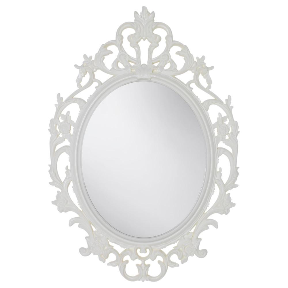 Зеркало ВИКЕРСУНД овал, белый  фото 1