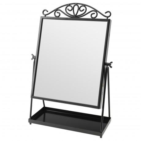 Зеркало настольное КАРМСУНД черный фото 3