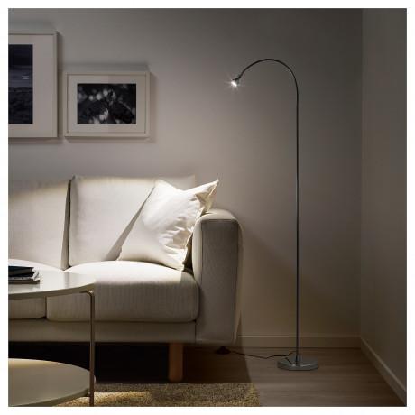 Светильник напольный, светодиодный ЯНШО серебристый фото 5