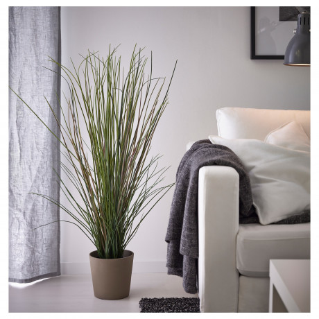 Искусственное растение в горшке ФЕЙКА трава фото 4