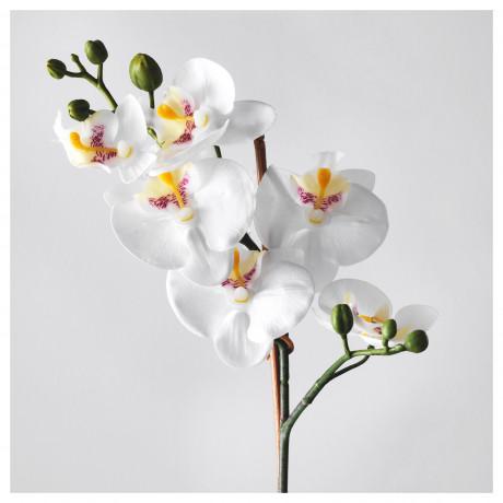 Искусственное растение в горшке ФЕЙКА Орхидея белый фото 5
