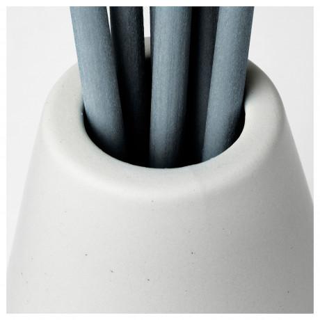 Ваза и 6 ароматических палочек НЬЮТНИНГ Цветущий бергамот, серый фото 5
