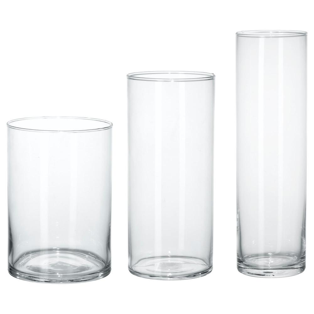 Набор ваз,3 штуки ЦИЛИНДР прозрачное стекло  фото 1
