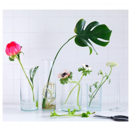Набор ваз,3 штуки ЦИЛИНДР прозрачное стекло фото 5