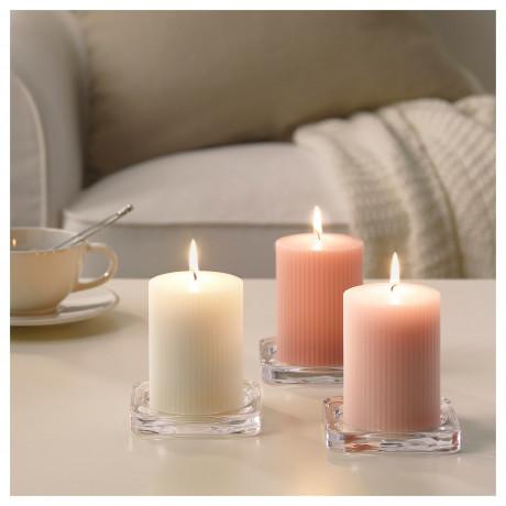 Формовая свеча, ароматическая БЛОМДОРФ душистый горошек, светло-оранжевый фото 4