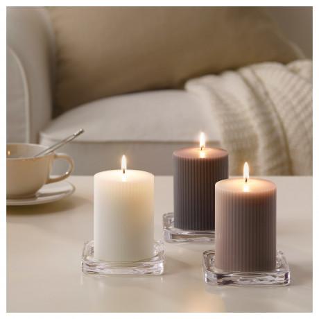 Формовая свеча, ароматическая БЛОМДОРФ Гладиолус, серый фото 4
