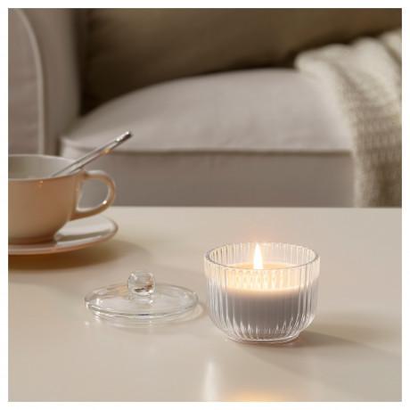 Ароматическая свеча в стакане БЛОМДОРФ Гладиолус, серый фото 4