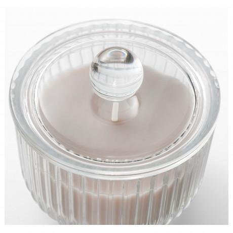 Ароматическая свеча в стакане БЛОМДОРФ Гладиолус, серый фото 5