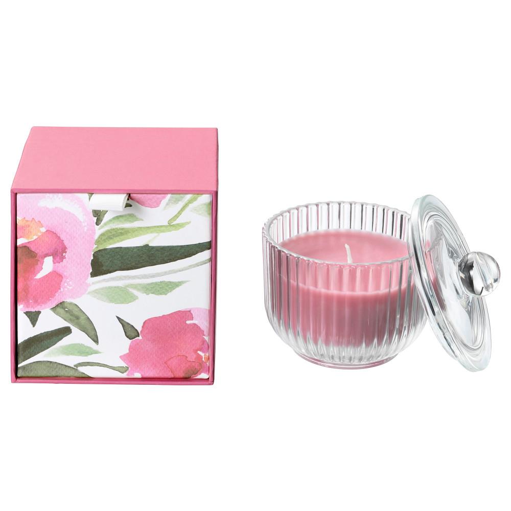 Ароматическая свеча в стакане БЛОМДОРФ Пион, розовый  фото 1