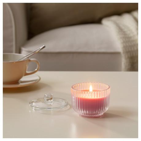 Ароматическая свеча в стакане БЛОМДОРФ Пион, розовый фото 4