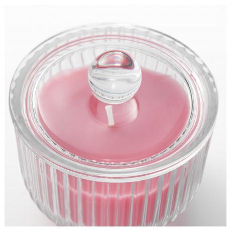 Ароматическая свеча в стакане БЛОМДОРФ Пион, розовый фото 5