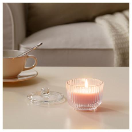 Ароматическая свеча в стакане БЛОМДОРФ душистый горошек, светло-оранжевый фото 4