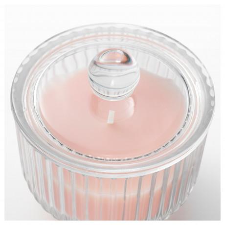Ароматическая свеча в стакане БЛОМДОРФ душистый горошек, светло-оранжевый фото 5